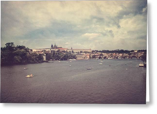 Prague Days II Greeting Card by Taylan Soyturk