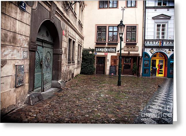 Option Greeting Cards - Prague Dining Options Greeting Card by John Rizzuto