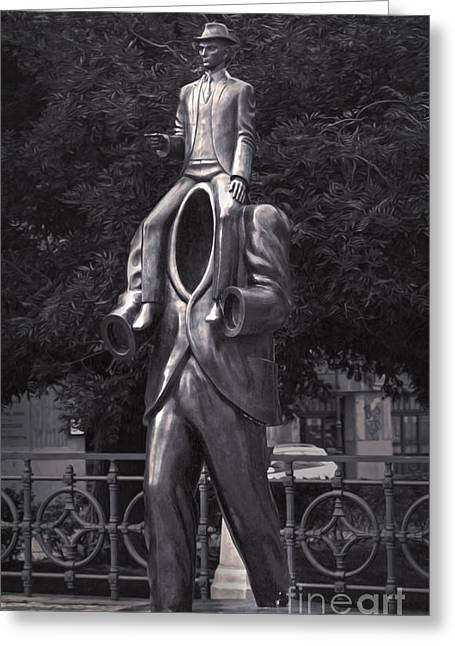 Kafka Photographs Greeting Cards - Prague - Kafka Statue Greeting Card by Gregory Dyer