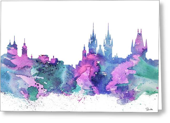 Recently Sold -  - Printed Greeting Cards - Prague  Greeting Card by Luke and Slavi