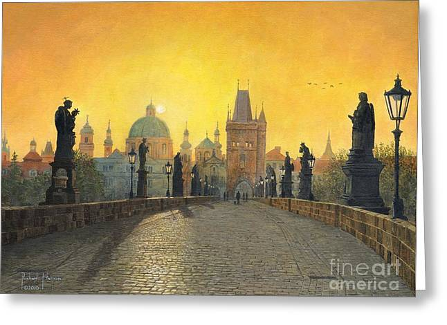 Eastern Europe Greeting Cards - Prague Greeting Card by MGL Meiklejohn Graphics Licensing