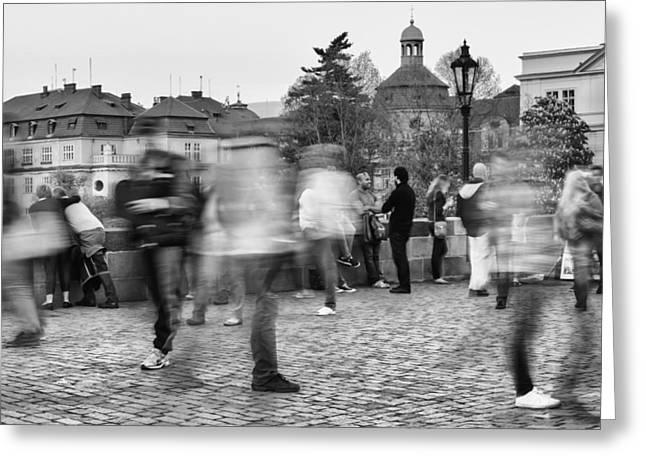 Charles Bridge Mixed Media Greeting Cards - Prague  Greeting Card by Mustafa Otyakmaz
