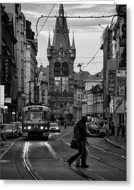 Prague Routine Greeting Card by Mustafa Otyakmaz