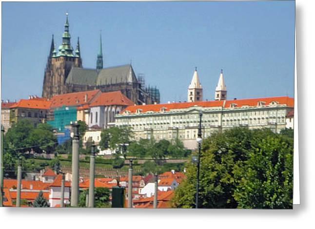 Virgin Mary Greeting Cards - Prague St.Vitus Cathedral - 03 Greeting Card by Gregory Dyer
