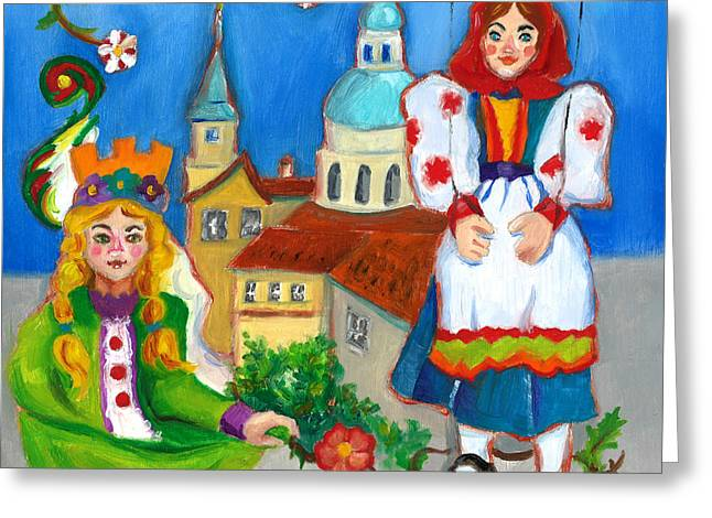 Prague Paintings Greeting Cards - Prague Greeting Card by Susan Thomas