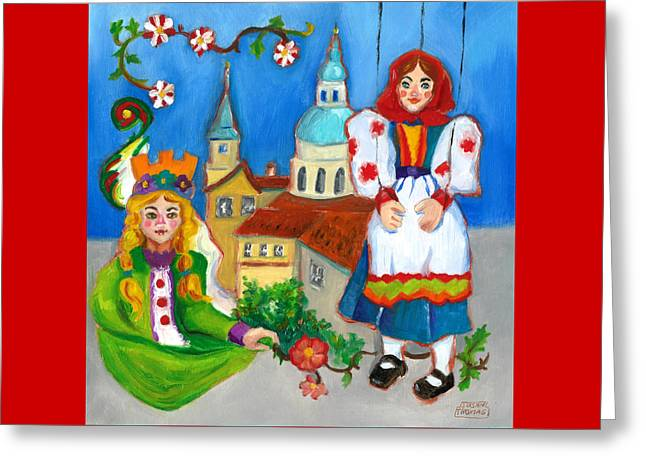 Prague Paintings Greeting Cards - Prague Greeting Card by Susan Thomas