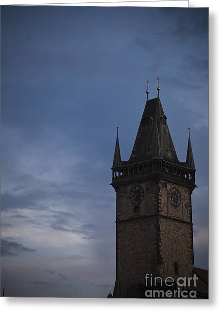 Dungeons Greeting Cards - Prague Tower Greeting Card by Maria Heyens