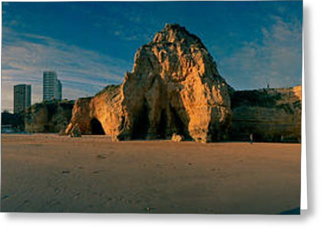 Algarve Greeting Cards - Praia Da Rocha At Sunset, Portimao Greeting Card by Panoramic Images