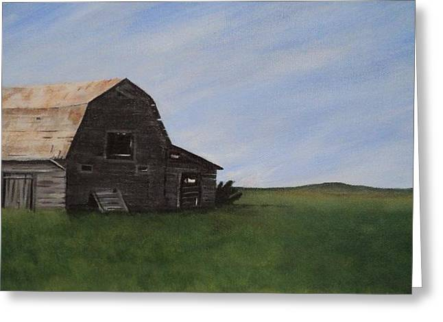 Prairie Barn Greeting Card by Jesslyn Fraser
