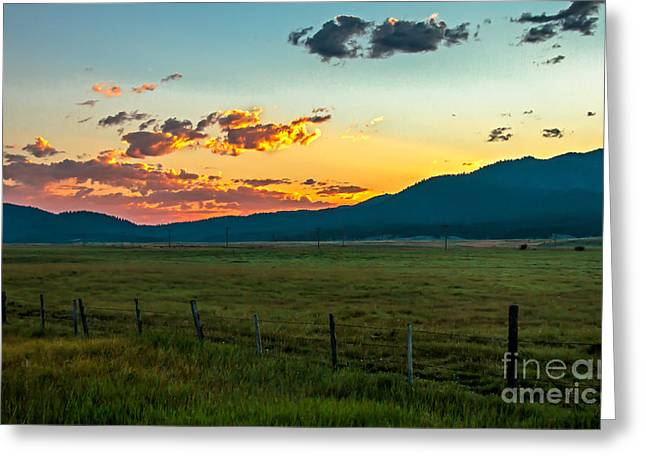 Haybale Greeting Cards - Prairie Beautiful Sunrise Greeting Card by Robert Bales