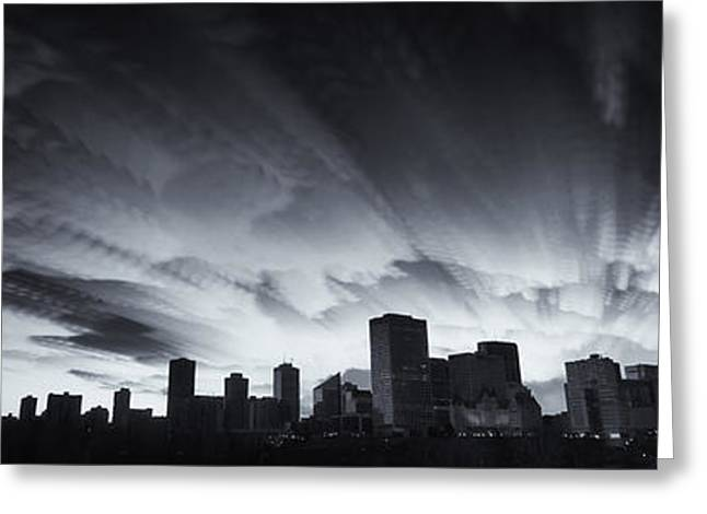 Edmonton Greeting Cards - Prairie City Skyline Greeting Card by Ian MacDonald
