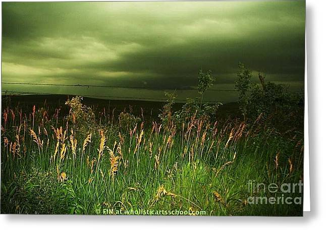 Book Cover Art Greeting Cards - Prairie Clouds Greeting Card by PainterArtist FIN