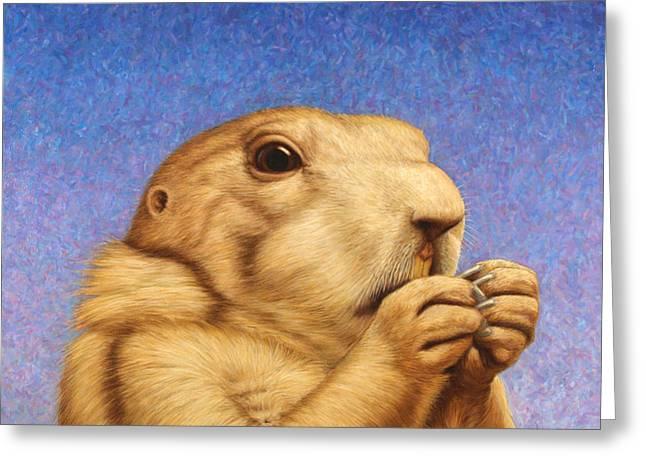 Prairie Dog Greeting Card by James W Johnson