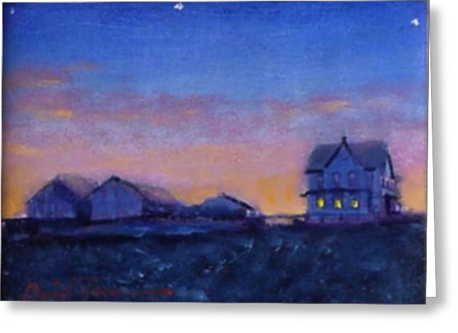 Md Paintings Greeting Cards - Prairie Goodnight Greeting Card by David Zimmerman