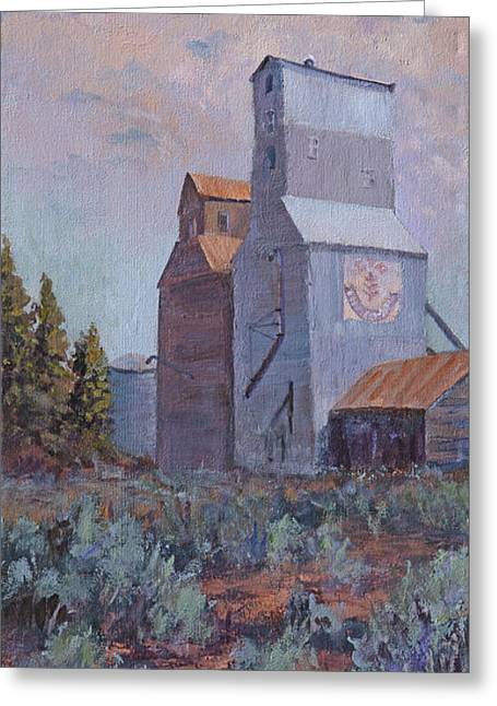 Prairie Sunset Landscape Art Print Greeting Cards - Prairie High Rises of Montana Greeting Card by Bev Finger