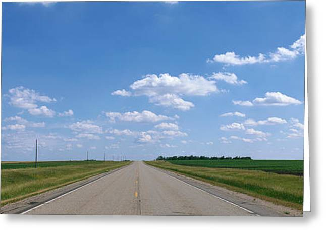 Roadway Greeting Cards - Prairie Highway, De Smet, South Dakota Greeting Card by Panoramic Images
