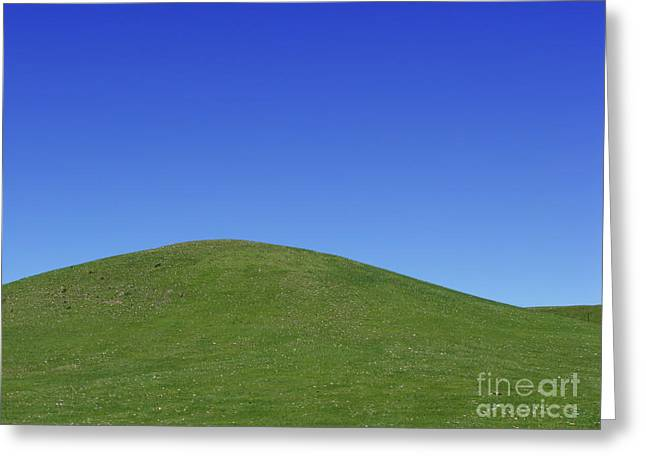 Green Hills Greeting Cards - Prairie Hill Greeting Card by Olivier Le Queinec