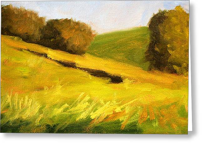 Wa Paintings Greeting Cards - Prairie Hills Greeting Card by Nancy Merkle