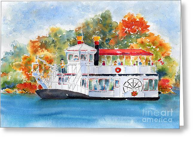 Sienna Greeting Cards - Prairie Lily Riverboat Greeting Card by Pat Katz