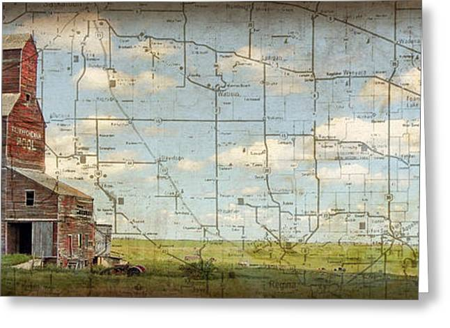 Saskatchewan Prairies Greeting Cards - Prairie Panorama Greeting Card by Judy Wood