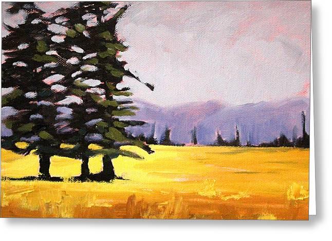 Sunriver Greeting Cards - Prairie Pines Greeting Card by Nancy Merkle