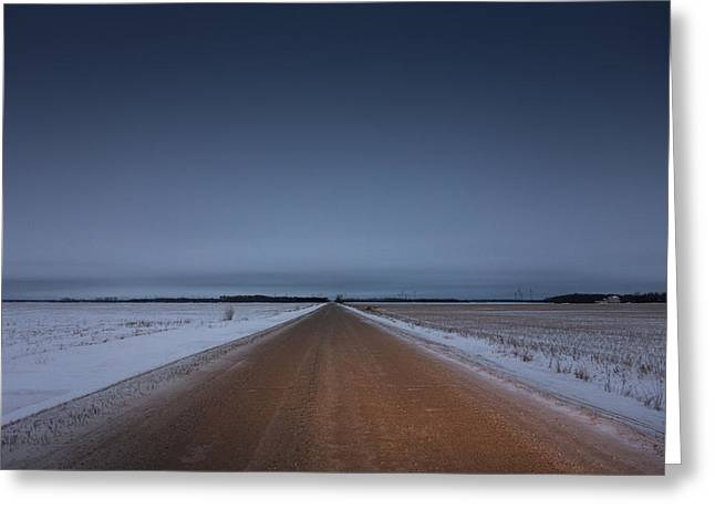 Winter Roads Greeting Cards - Prairie Road Greeting Card by Bryan Scott