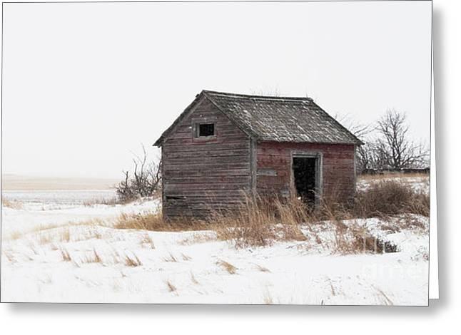 Barn Door Greeting Cards - Prairie silence... Greeting Card by Nina Stavlund