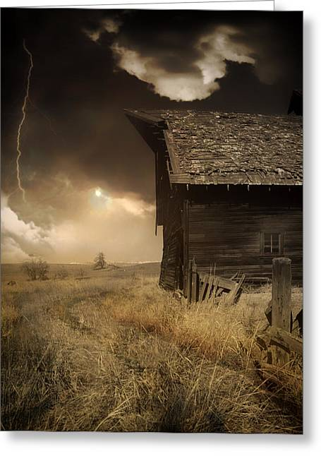 Prairie Landscape Greeting Cards - Prairie Storm Greeting Card by Mountain Dreams