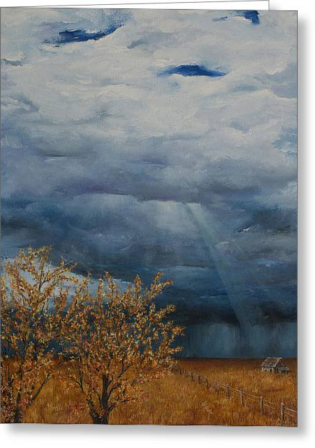 Abandond Greeting Cards - Prairie Storm Greeting Card by Sharon Graham