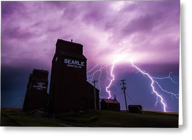 Canadian Prairies Greeting Cards - Prairie Tempest Greeting Card by Ian MacDonald