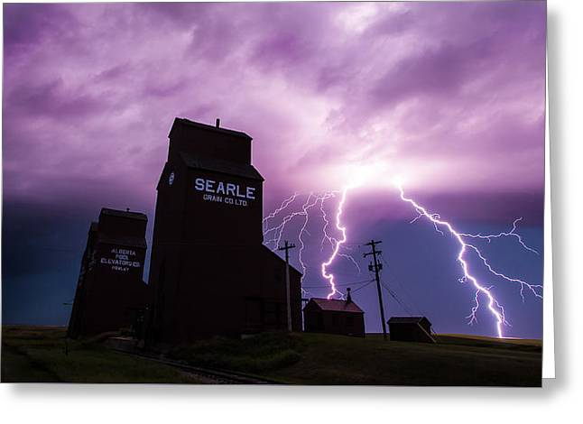 Canadian Prairies Greeting Cards - Prairie Tempest Greeting Card by Ian MacDonald