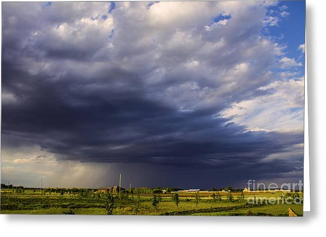 Canadian Prairie Landscape Greeting Cards - Prairies Landscape Greeting Card by Francis Lavigne-Theriault