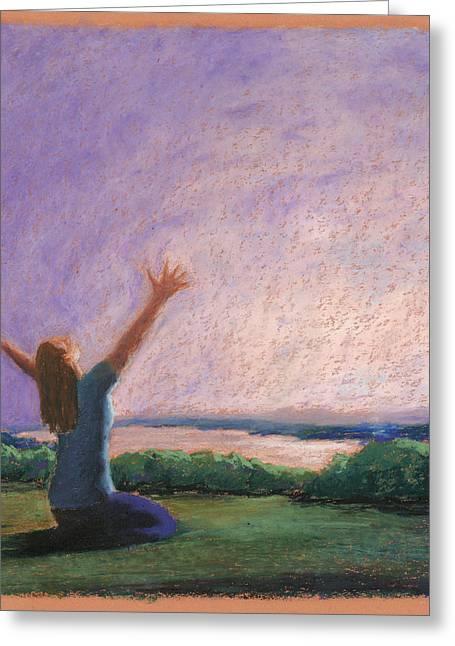 Jesus Pastels Greeting Cards - Praise and Worship 3 Greeting Card by Logan Gerlock