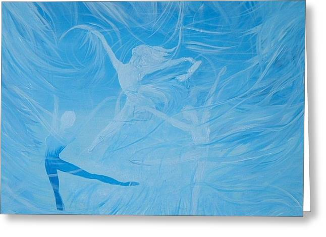 Ballet Dancers Greeting Cards - Praise the Lord Dance Greeting Card by Susan Harris