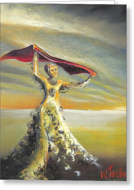 Survivor Art Greeting Cards - Praise You in this Storm Greeting Card by Whitney Tomlin