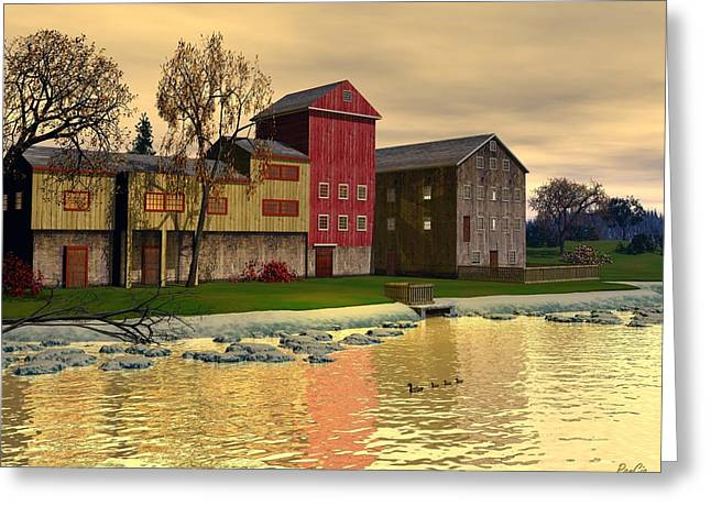 Stockton Greeting Cards - Prallsville Mill Greeting Card by John Pangia