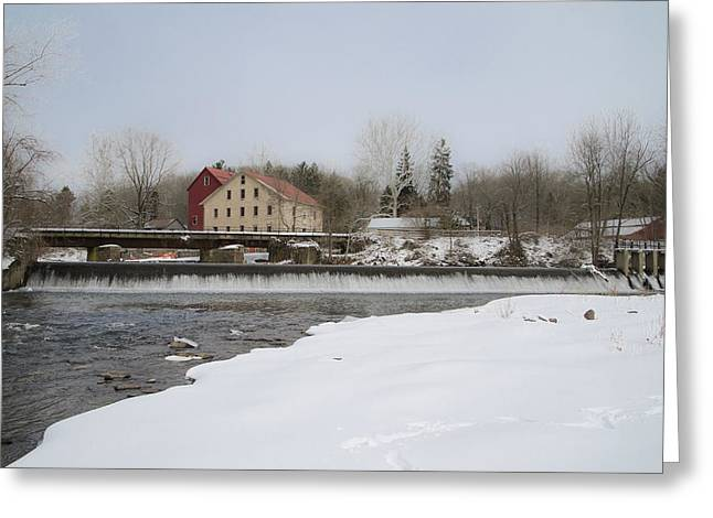 Stockton Digital Art Greeting Cards - Prallsville Mills and Waterfalls - Stockton New Jersey Greeting Card by Bill Cannon