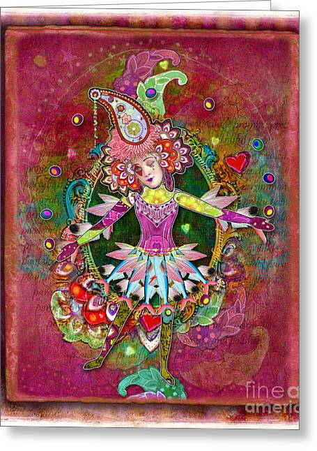 Jester Greeting Cards - Pranceitude Greeting Card by Amy Stewart