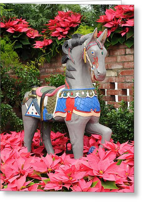 Phipps Conservatory Greeting Cards - Prancing Horse Greeting Card by Cyril Furlan