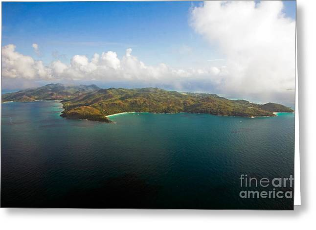 Ocean Shore Greeting Cards - Praslin Island Greeting Card by Tim Holt