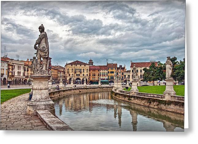 Geschichte Greeting Cards - Prato della Valle Greeting Card by Hanny Heim