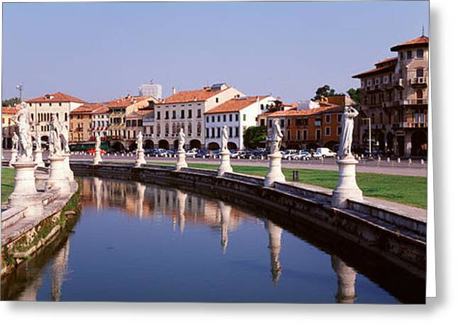 Padua Greeting Cards - Prato Della Valle, Padua, Italy Greeting Card by Panoramic Images