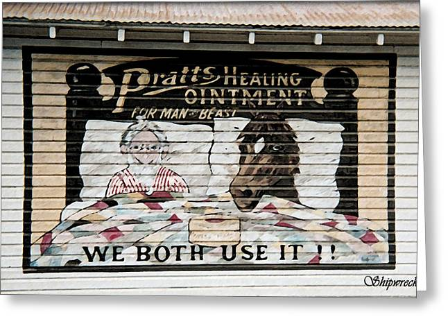 Winthrop Digital Art Greeting Cards - Pratts Healing Ointment Greeting Card by Christopher Bage