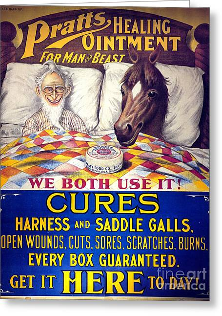 Pratts Healing Ointment Greeting Card by Science Source