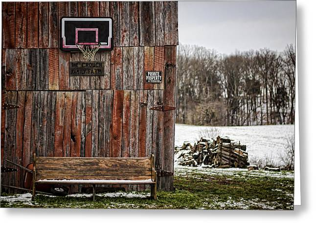 Tobacco Barns Greeting Cards - Pray for Basketball Greeting Card by Heather Applegate
