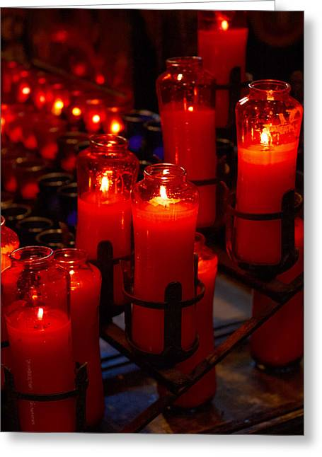 John Kennedy Greeting Cards - Prayer Candles Greeting Card by John Kennedy