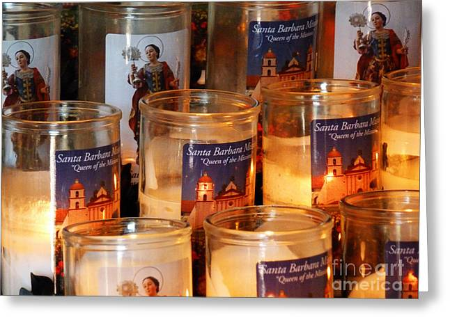 Candle Lit Greeting Cards - Prayer Candles Greeting Card by Methune Hively