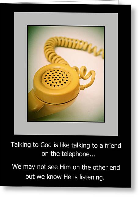 Handset Greeting Cards - Prayer Greeting Card by David and Carol Kelly