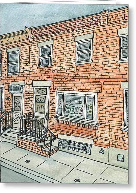 South Philadelphia Paintings Greeting Cards - Prayer Flags Greeting Card by Cee Heard