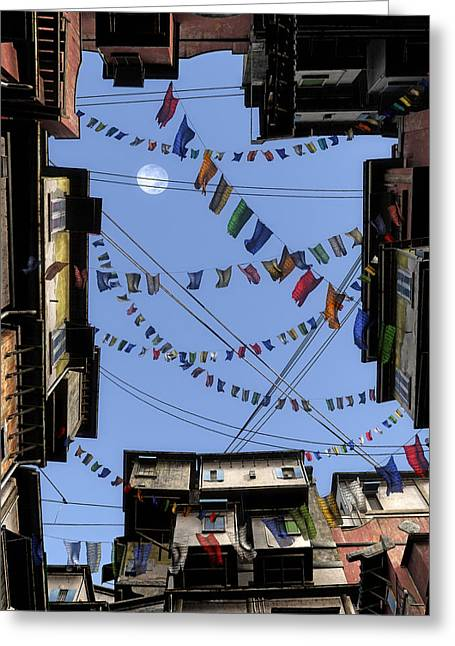 Prayer Flags Greeting Cards - Prayer Flags Greeting Card by Cynthia Decker